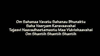 Shanti Mantra (Sahana Vavatu)