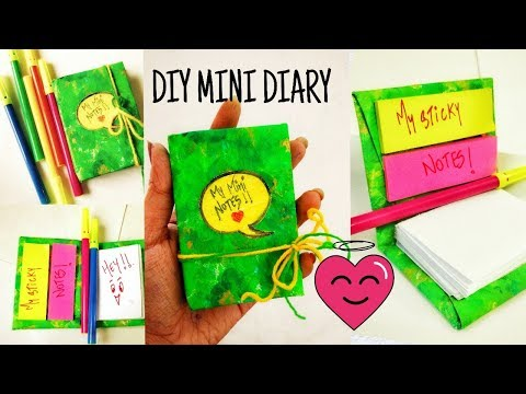 DIY CUTE PERSONAL MINI DIARY/NOTEPAD-MINIATURE BOOK-POCKET DIARY-BACK TO SCHOOL||yasha creation