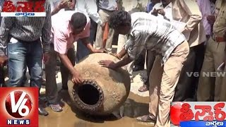 Ancient Pot Finally Opened in Gadwal || Mahabubnagar || Teenmaar News || V6 News