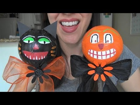 ASMR: Making Halloween Noise Makers | Halloween Crafts | Holiday Crafts