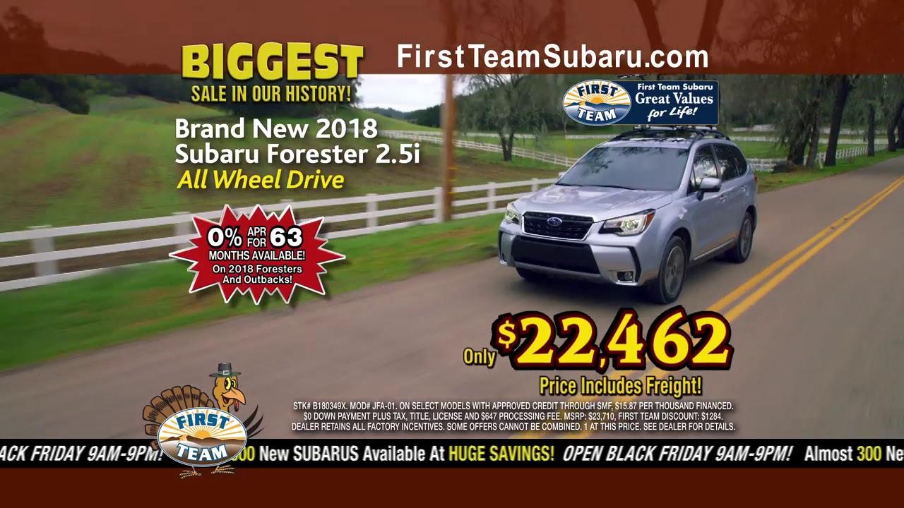 First Team Subaru >> First Team Subaru Black Friday Event First Team Subaru