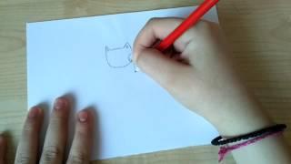 Как нарисовать кота (кошку). Рисуем кота-вампира =3