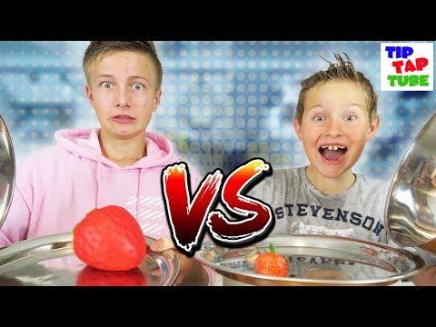 🍦 REAL FOOD vs. XXL SQUISHY FOOD 🍩 Challenge + Bestrafung 🚿 TipTapTube 😎