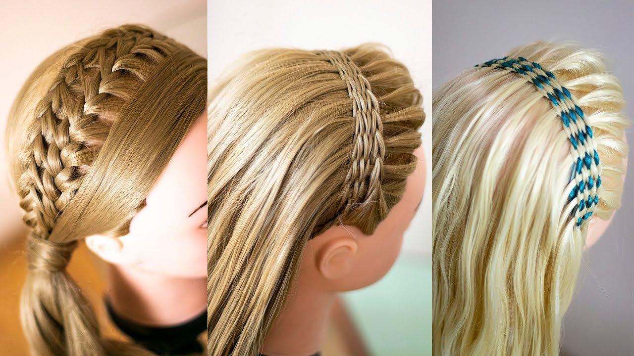 Сборник Ободки из кос Летние причёски для длинных волос Hairstyle tutorial