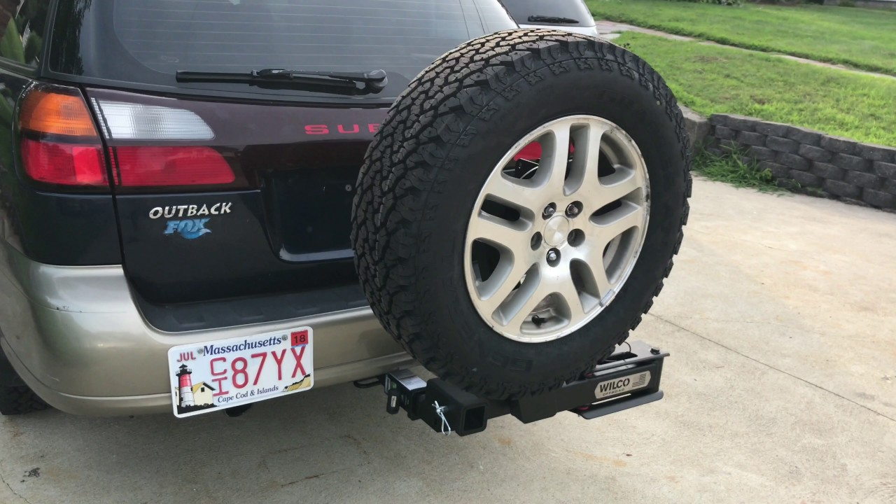 Wilco Off-road Hitchgate tire carrier | Subaru Outback ...