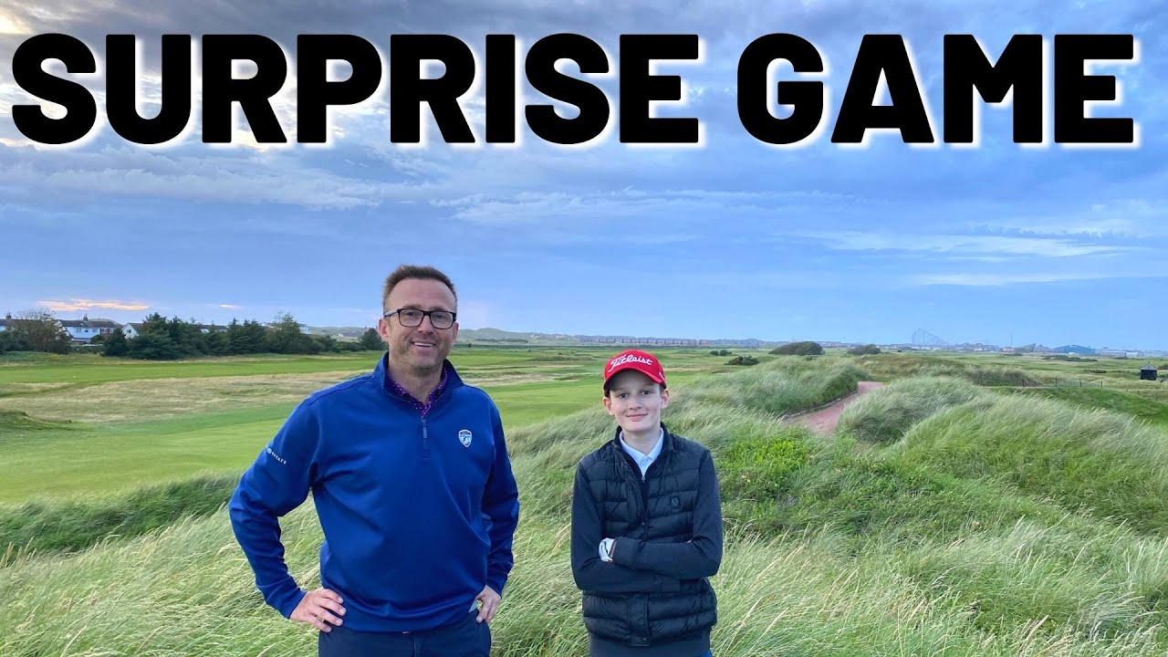 we surprise a young golfmate for a money match
