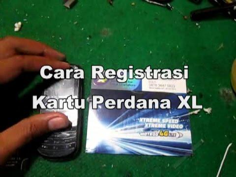 Cara Registrasi \/ Aktivasi Kartu XL  YouTube