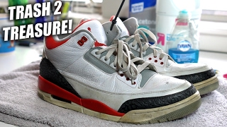 Thrifted Jordan Fire Red 3 Restoration!! A Quick Thrift Fix!