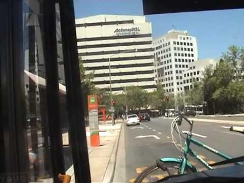 Bus ride through Civic, Canberra