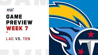 Los Angeles Chargers vs. Tennessee Titans Week 7 NFL Game Preview