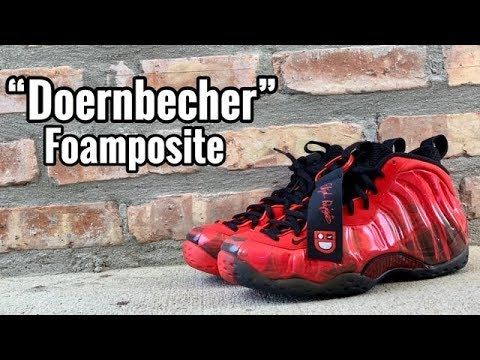 """3c1a72826ab28 Nike Foamposite One """"Doernbecher"""" review - YouTube"""
