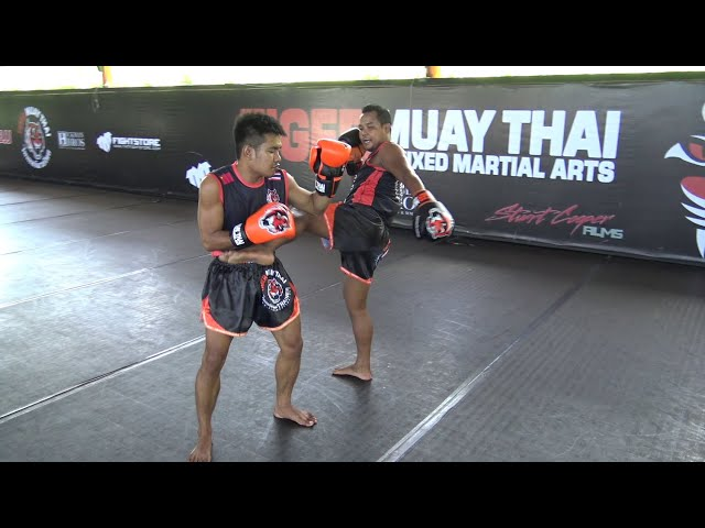 Muay Thai Technique: Pivot Around Opponent - Kick
