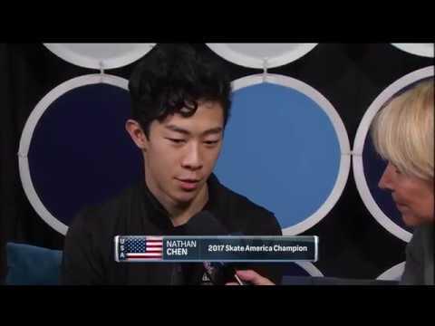 2017 Skate America Chen, Nathan Interview Post FS NBC