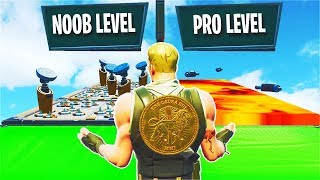 NOOB vs PRO vs HACKER desafio deathrun... (Fortnite criativo)