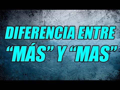 La Diferencia Entre Más Y Mas Definición Y Ejemplos De Cada Una Wilson Te Educa Youtube