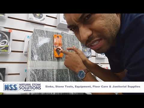 DRILL BIT WATER DELIVERY SYSTEM W/ NATURAL STONE SOLUTIONS