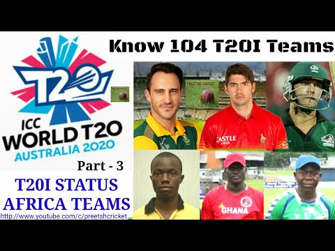 ICC T20I STATUS Know All 104 Cricket Teams - 3 | ICC Members Africa T20I Teams ( English )