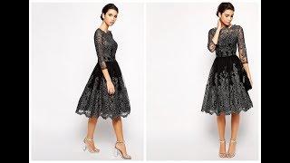 Женская одежда с алиэкспресс - Вечернее кружевное платье в стиле ретро