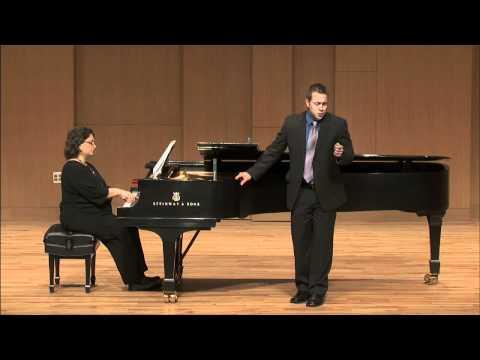 """Il mio tesoro"" from Mozart's Don Giovanni.  Derek Chester, tenor"