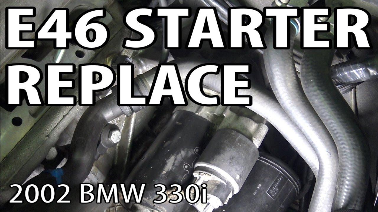 medium resolution of bmw e46 starter replacement