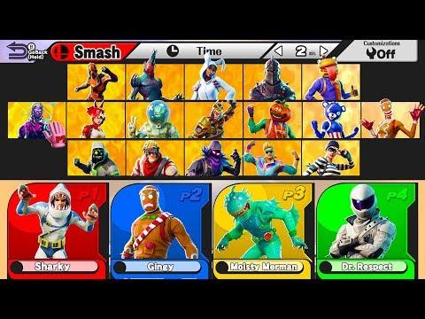 *NEW* Fortnite SMASH BROS Custom Gamemode In Playground V2 | Fortnite W/ Lazarbeam, Muselk, & Vik