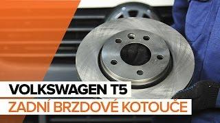 Jak vyměnit zadní brzdové kotouče a zadní brzdové destičky na VOLKSWAGEN T5 NÁVOD | AUTODOC