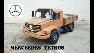 WOW! Super Mercedes Zetros || How to make Mercedes Truck 4X4 with cardboard||DIY|| Electric toy car