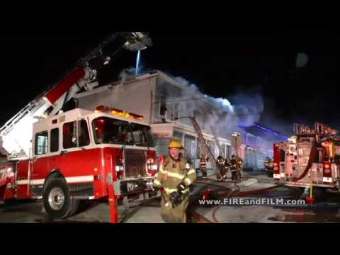 Fire destroys rowhomes - Lansford, PA - 02/02/2018