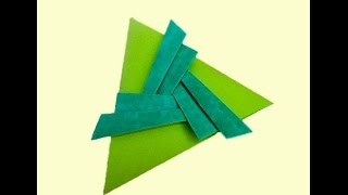 Easy Triangle envelope. Origami Pleated Triangle. Ideas for Valentine's day