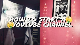 HOW TO START A YOUTUBE CHANNEL WITH NO MONEY!