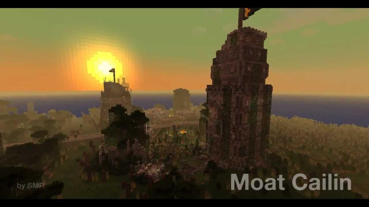 Moat Cailin  Minecraft  YouTube