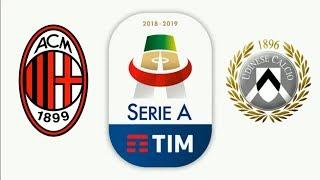 Милан Удинезе смотреть онлайн футбол видео прогноз на матч ставка обзор голы прямая трансляция Milan