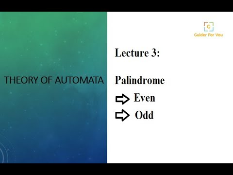 3-Palindrome   Types of Palindrome   Theory of Computation    Automata   Computer Science