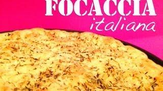 Focaccia Rezept perfekt zum Grillen - Brot Italien Style wie Pizza - einfachKochen