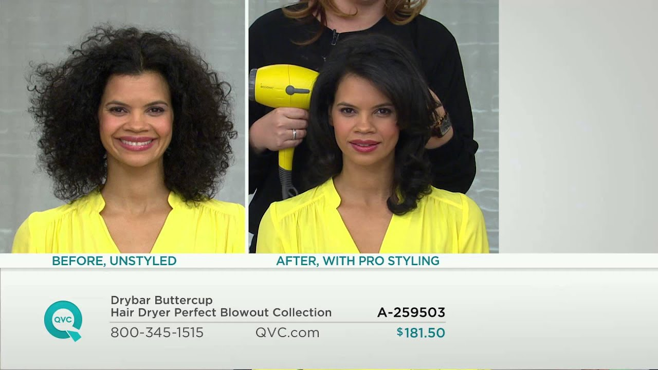 Drybar Buttercup Hair Dryer Perfect Blowout Collection with Jennifer