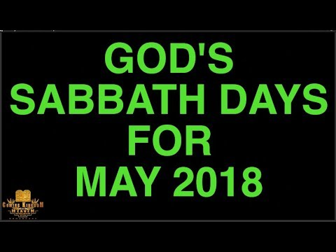 New Moon Report / Sabbath Days for May 2018