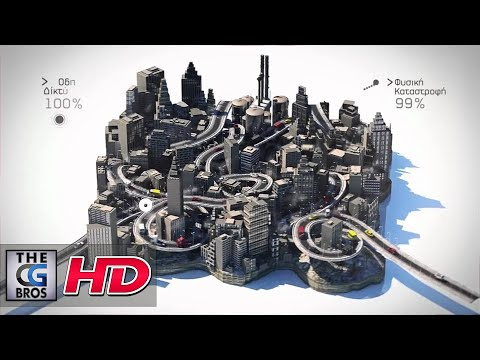 """CGI Motion Graphics Spot : """"Econews Ident"""" by Anthimos Xenos"""