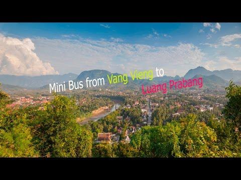 Northern Laos. Mini Bus from Vang Vieng to Luang Prabang