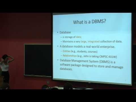 Introduction to Database Management Systems - Part 1 | Lecture 01 | CMPSC 431W