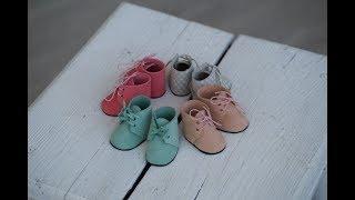как сделать ботинки текстильной кукле