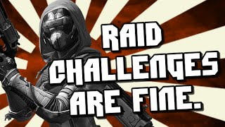 My Thoughts on Raid Challenges and Whats Next.