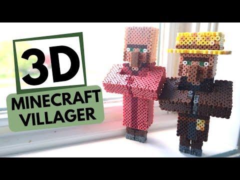 3d Perler Bead Minecraft Villager Figure Groundhog News