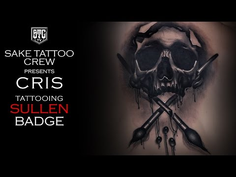 Sullen Badge Themed Tattoo Timelapse With Cris_STC