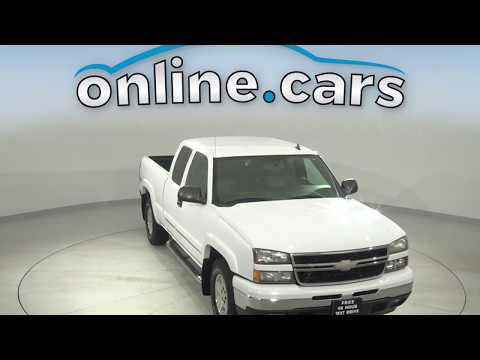 A16696YT Used 2007 Chevrolet Silverado 1500 White Truck Test Drive, Review, For Sale