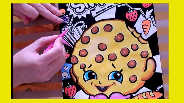 Kids Velvet coloring Shopkins Kooky Cookie with ColorCraze ...