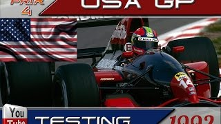 Grand Prix 4. Mod 1992. USA. Testing. Qualify & Race