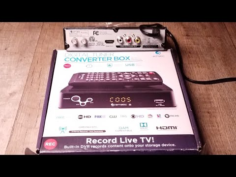 HOW TO SETUP A HD DIGITAL TUNER CONVERTER BOX WITH HDMI OUTPUT REVIEW   Record Live TV!