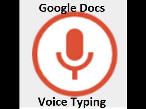 Google Docs Voice Recognition: Voice Typing