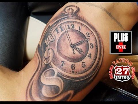 Watch Tattoo in Arm