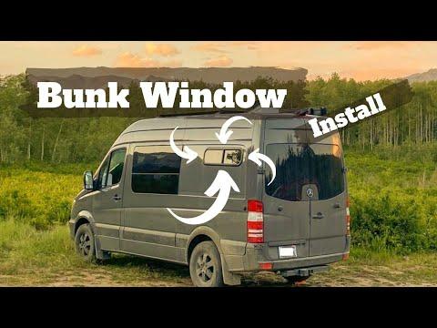 Half-Slider Window Install on DIY Sprinter Camper Van